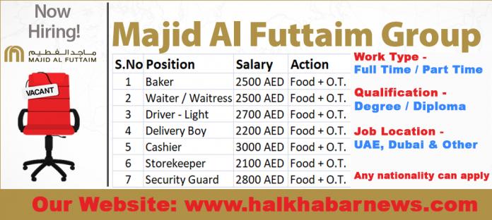 Jobs Open For Majid Al Futtaim Group