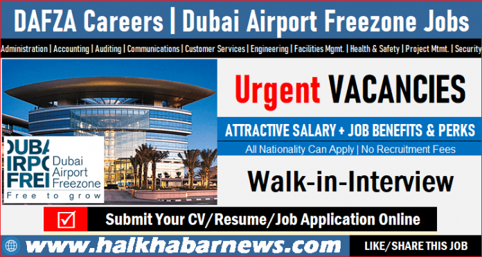 DAFZA jobs vacancies